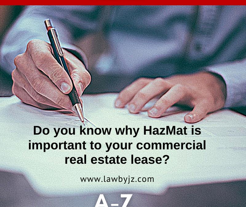 HazMat – Commercial Real Estate Terms