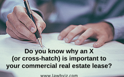 X (or cross-hatch) – Commercial Real Estate Terms