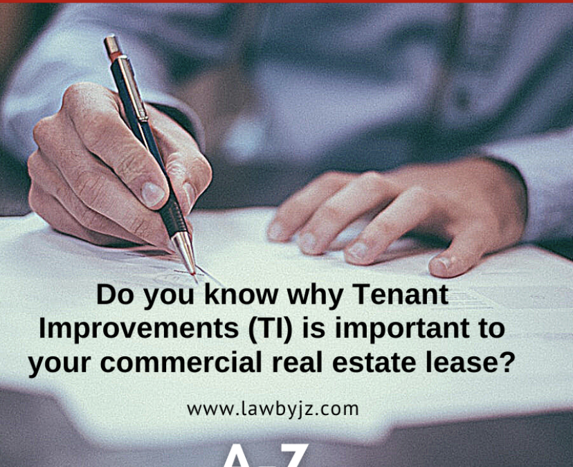 Tenant Improvements (TI) – Commercial Real Estate Terms