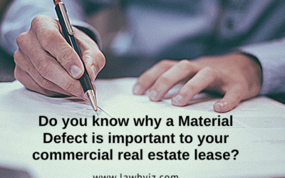 Material Defect – Commercial Real Estate Terms