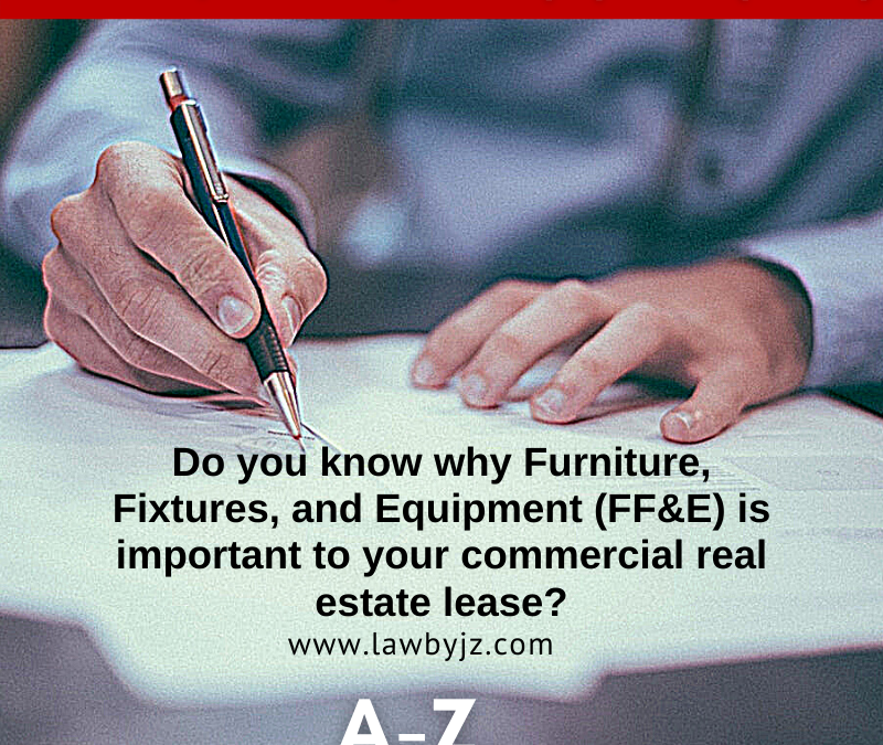 Furniture, Fixtures, and Equipment (FF&E) – Commercial Real Estate Terms