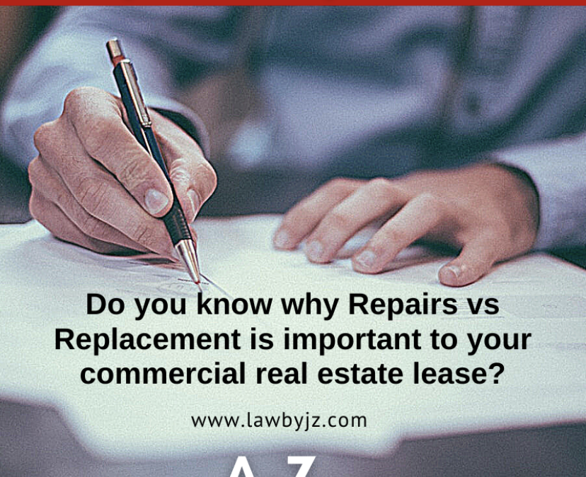 Repairs vs. Replacement – Commercial Real Estate Terms