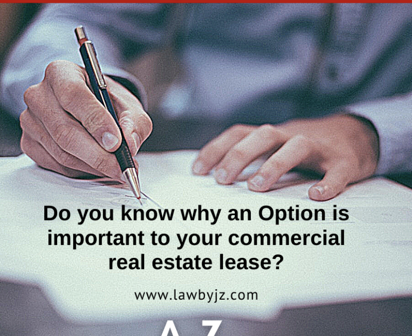 Option – Commercial Real Estate Terms