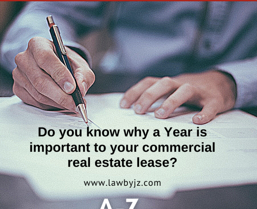 Year – Commercial Real Estate Terms